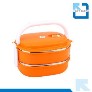 Double Layer Stainless Steel Lunch Box Take Away Lunch Box pictures & photos