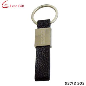 Wholesale Red Leather Professional Promotion Keychain Manufacturer pictures & photos