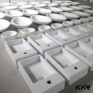 Custom Made Solid Surface Bathroom Basin pictures & photos