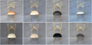 White Stackable Metal Used Banquet Chairs with Removable Seat Cuhion (YC-A278) pictures & photos