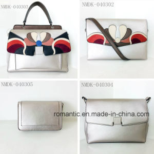 Promotional Lady PU Embroidered Handbags Leather Clutch Bag (NMDK-040302) pictures & photos