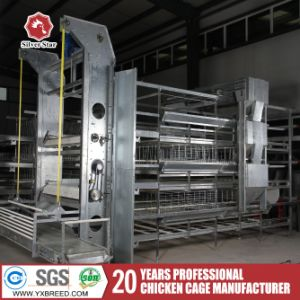Poultry Chicken Farm Equipment H Type Galvanized Broiler Cage pictures & photos
