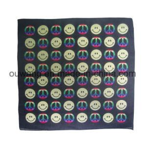 Custom Soft Smile Face Printed Bandana 100% Cotton pictures & photos