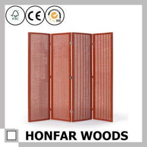 Classic Four Panel Wood Folding Screen Home Furniture pictures & photos