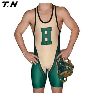 High Quality Customized Sublimation Wrestling Singlet for Men pictures & photos