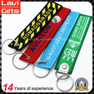 High Quality Embroidery Keychain with Keyring pictures & photos