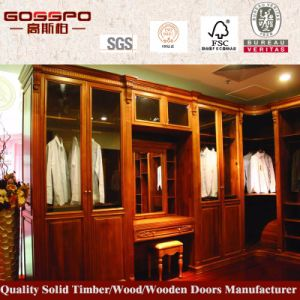 Luxury Solid Wood Bedroom Assembled Wardrobe (GSP9-014) pictures & photos