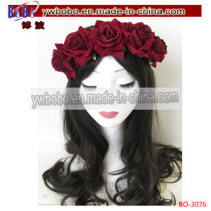Rose Flower Headband Hair Crown Boho Garland Hair Decoration (BO-3076) pictures & photos