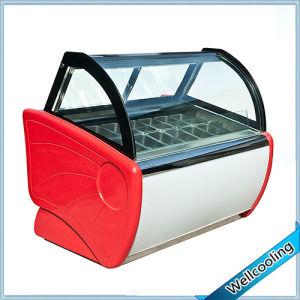 Embraco Compressor Good Quality Ice Cream Display Freezer pictures & photos
