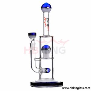 Wholesale 6 Inch Glass Water Pipe with Inline Recycler pictures & photos