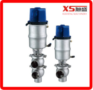 Sanitary Pneumatic Divert Flow Valves with Control Head pictures & photos