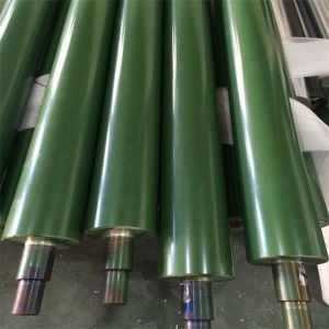 Rubber Coated Plated Coating Aluminum aluminium Roller/Rolls for Belt Conveyor pictures & photos