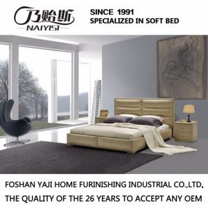 Fashion Double Bed Design Modern Bedroom Furniture Leather Bed (G7005) pictures & photos