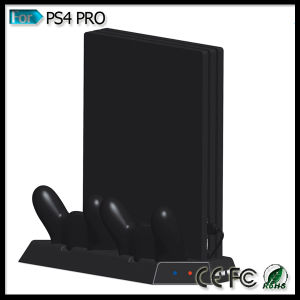 Vertical Stand Cooling Fan Dual Charging Station for Playstation 4 PS4 PRO Console Double Shock 4 Controllers pictures & photos