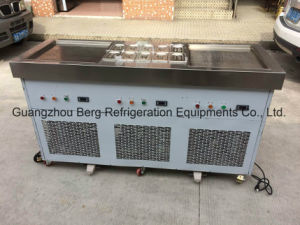 Commercial Stainless Steel R410 Two Flat Pans Fried Ice Cream Machine pictures & photos