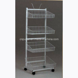 Heavy Duty 4 Layer Metal Shelf Stand (PHY531) pictures & photos