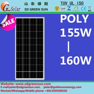 18V 155W-160W Poly PV Panel pictures & photos