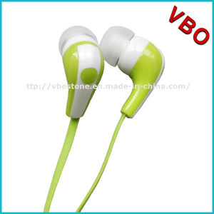 3.5mm Stereo Cheap Flat Cable Earphone Without Mic pictures & photos