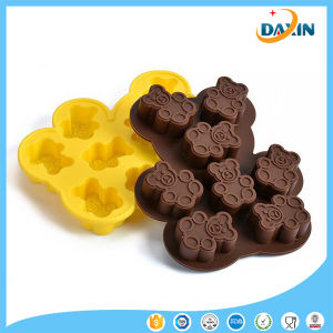 8PCS Bear Shape Food-Grade Silicone Cake/Chocolate Mold pictures & photos
