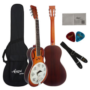 Wholesale Cheap Sunburst Acoustic Parlor Resonator Guitar pictures & photos