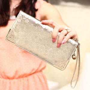 New Lady Long Wallet Golden Stone Korean Fashion Female Wallet Purse Trend pictures & photos