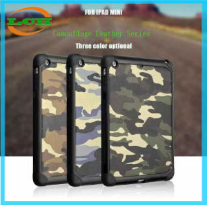 Dual Layer Camouflage Leather Tablet Case for iPad Mini 1/2/3/4 pictures & photos