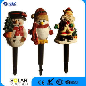 Christmas Solar Stake Resin Snowman Light for Festival Decoration pictures & photos
