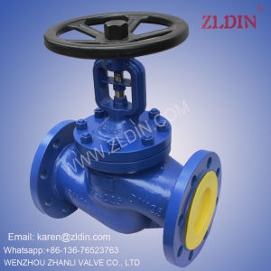 DIN Std. Pn16 Wj41h Bellow Sealed Globe Valve for Flue Gas Puerification Plant