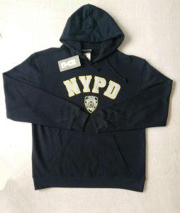 Wholesale Man Black Fleece Embroidery Logo Hoodies