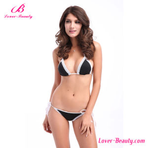 Trim Accented String Sexy Mature Bikini Swimwear pictures & photos