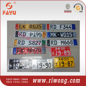 BV & SGS Passed Europe Embossed Number Plate pictures & photos