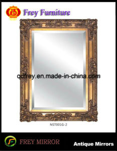 European Design Solid Wood Wall Mirror Frame with Glass pictures & photos