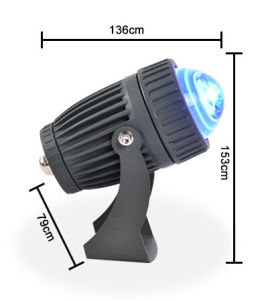 on Sale 10W Blue Color LED Plaza Light/Lawn Light/Square Light/Warehouse Light/Hotel Light/Park Light/Garden Light LED Flood Light pictures & photos