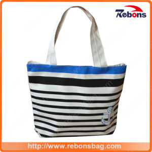 New Stylish High Quality Leather Ladies Bags Striped Printed Handbag pictures & photos