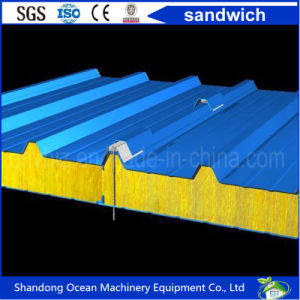 Color Steel Sandwich Panel Roof Panel Wall Panel with Good Heat Insualtion Materials pictures & photos