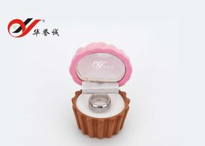 Five Shape Velvet Ring Box pictures & photos