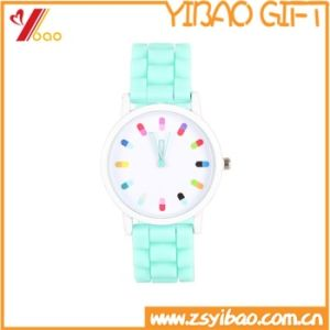 Custom Fashion Design Silicone Watch with Black Belt pictures & photos