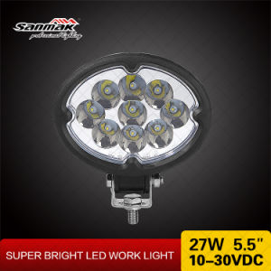 Oval Hot Sale 5.5 Inch 27W CREE LED Work Lamp pictures & photos
