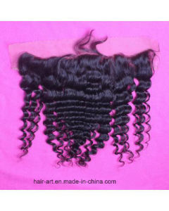 """10""""-20"""" Deep Wave Natural Color Virgin Hair Frontal Closure pictures & photos"""