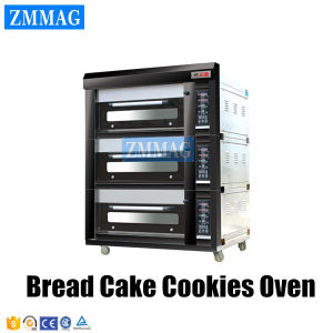 High Efficiency Stainless Steel Industrial Electric Cake Baking Oven 3 Deck 9 Trays for Sale (ZMC-309D) pictures & photos