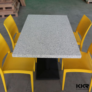 Italia Marble Stone Customized Square Dining Table pictures & photos