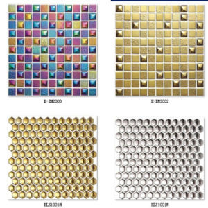 Six Hexigon Gold Mosaic Tile pictures & photos