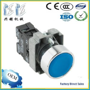 Xb2-Ba61 Blue Color 22mm 1 No (+1NC) Flush Head Momentary Spring Return Push Button Factory pictures & photos