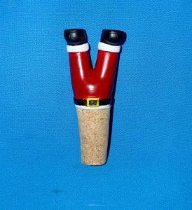 Christmas Decoration Resin Santa Bottle Stopper pictures & photos