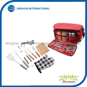 Stainless Steel BBQ Grill Tool Set with Water Proof Insulated Lunch Cooler Bag pictures & photos