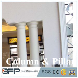 Pillar Building Material, Beijing White Marble Roman Columns by Handcarved pictures & photos