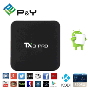 Original Tx3 PRO Android 6.0 Marshmallow Amlogic S905X Quad Core 4k TV Box 1g/8g 802.11 B/G/N LAN Media Player pictures & photos