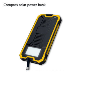 Compass Solar Power Bank New Model Solar Charger 10000mAh 5A/1A and 5V/2A Dual Power Output pictures & photos