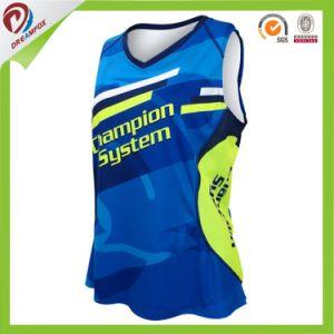 Cheap OEM Custom Design Sportswear Printed Running Yoga Wear Singlet pictures & photos