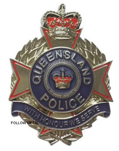 Souvenir Metal Police Badge with Nickel Plated